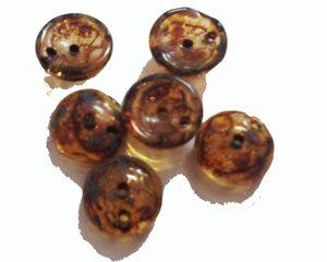 Piggy bead Crystal brunbeige picasso. 20-pack