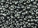 Miyuki seedbead 15/0, Black Hematite, 55029. 5 gram