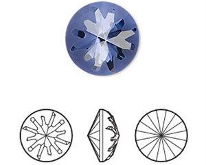 Sea Urchin Round Stone, 14 mm.  Tanzanite.