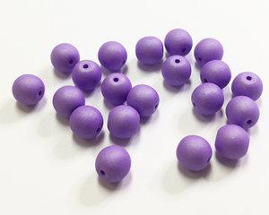 Runda druks, Opaque Violet Silk Matte, 6 mm. 20 st