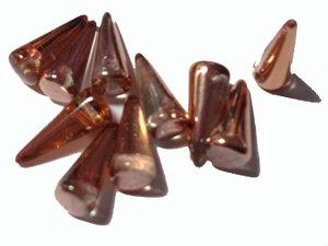 Spike pärlor i crystal med koppar, 5*13 mm. 10-pack.