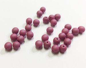 Runda druks, Opaque Wine Lees Silk Matte, 4 mm. 30 st