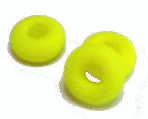 Neongul donutpärla med UV-effekt
