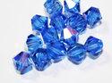 Preciosa bikoner i färgen Sapphire AB, 8 mm. 4-pack.