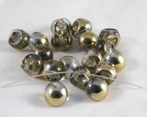 Mushroom beads Crystal Gold, 9*8 mm.20 pärlor/förpackning.