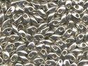 Miyuki Long Magatama, Galvanized Silver, 1051. 10 gram