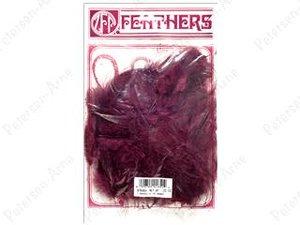 Vinröda kalkonfjädrar, 14 gram.