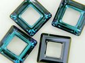 Swarowski Square 20*20 mm. Crystal Bermuda Blue.