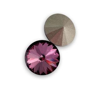 Swarowski Rivoli 12 mm. Crystal Antique Pink.