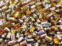 Rulla beads, Topaz Vitrail, 10060/28101. 10 gram