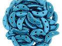 Czech Mate® Crescent beads, Saturated Metallic AquaMarine, 77038CR. 50 st.