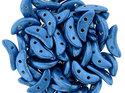 Czech Mate® Crescent beads, Saturated Metallic Blue, 77040CR. 50 st.