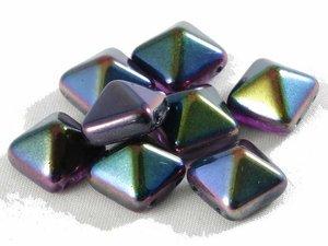Stud bead, Crystal Magic Purple, 12*12 mm. 10-pack