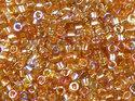 Delica 11/0, Crystal Orange Rainbow, DB55022. 5 gram.