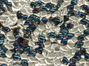 Dragon scale bead, Crystal Bermuda Blue. 5 gram