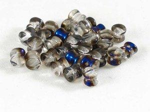 Pellet beads, Crystal Smoke AB , 50-pack