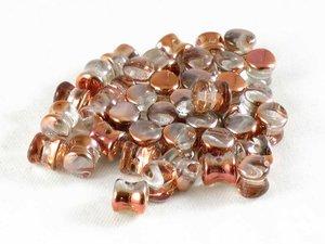 Pellet beads, Crystal Copper , 50-pack