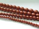 Rund druk tjeckisk pärla, Alabaster Metallic Matt Copper, 29410. 8 mm. En längre sträng, 16 cm.
