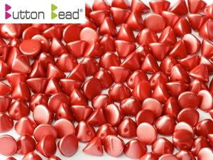Button Bead, Pastel Dark Coral, 25010. 30-pack.