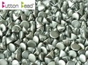 Button Bead, Pastel Light Grey, 25028. 30-pack.
