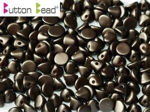 Button Bead, Pastel Dark Brown, 25036. 30-pack.