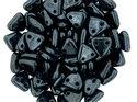 Czech Mate Triangle Bead, Jet Hematite. 5 gram.