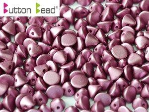 Button Bead, Metallic Mat Amethyst, 29428. 30-pack.