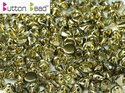 Button Bead, Crystal Amber, 00030/26441. 30-pack.