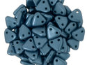 Czech Mate Triangle Bead, Pearl Coat Steel Blue. 5 gram.
