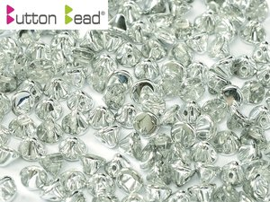 Button Bead, Crystal Labrador, 00030/27001. 30-pack.