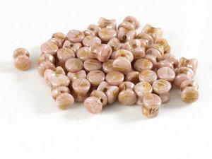 Pellet beads, Pale Pink Travertin, 50-pack