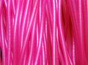 Rosa ihålig gummislang, lätt transparent. Slangen är 3 mm tjock och hålet är 1,7 mm.