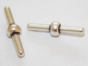 Pinnlås till ihålig gummislang, 3 mm. 2-pack.