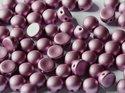 Cabochon en tvåhålig pärla, 6 mm. Alabaster Metallic Rose, 02010/29428. 10-pack.