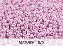 Matubo 8/0, Alabaster Pastel Light Lila Rose. 10 gram.