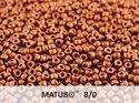 Matubo 8/0, Crystal SIlky Red Bronze. 10 gram.