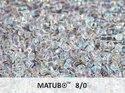 Matubo 8/0, Crystal AB. 10 gram.