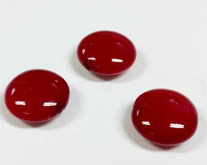 Cushion bead, 14 mm. Shiny Vivid Burgundy. 3-pack.
