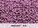 Matubo 8/0, Alabaster Pastel Bordeaux. 10 gram.
