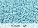 Matubo 8/0, Alabaster Pastel Turqoise. 10 gram.