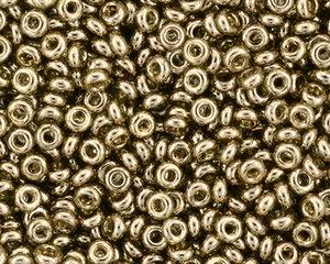 TOHO DemiRound™ 11/0, Gold Lustered Montana Blue. 5 gram.