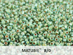 Matubo 8/0, Aqua Dark Travertin. 10 gram.