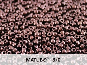 Matubo 8/0, Jet Lila Vega Luster. 10 gram.