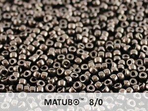 Matubo 8/0, Jet Copper. 10 gram.