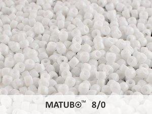 Matubo 8/0, Chalk White. 10 gram.