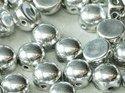 Cabochon en tvåhålig pärla, 6 mm. Crystal Full Labrador, 00030/27000. 10-pack.