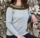 Sweater med mönstrat ok - Sarah