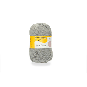 Soft Glitter -  Silvergrå