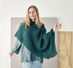 Moss-stickad poncho - Angel