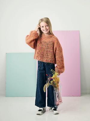 Bred sweater till flickor - Bella Color